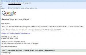 Google Adwords Phishing