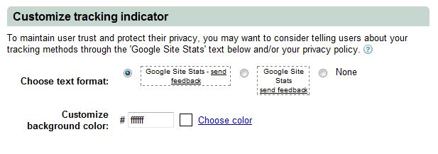Google Adwords Conversion Tracking Customize Indicator