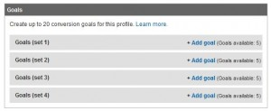 google analytics new goals